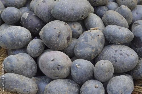 schwarze Kartoffeln