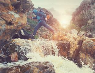 dangerous river crossing