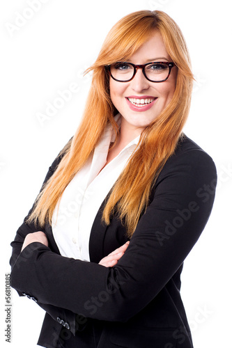 Confident young female executive