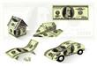 Dollar house. Vector.