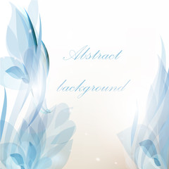 Abstract floral background in blue color