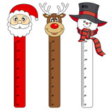 Bumper children meter wall. Christmas Stickers
