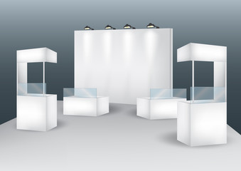 Blank booth event display