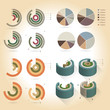 Infographics design pies and graphs