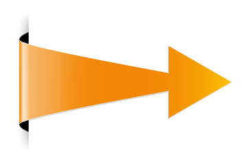 The orange arrow