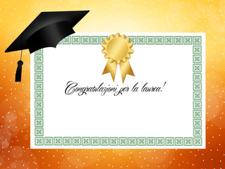 congratulations for graduation!