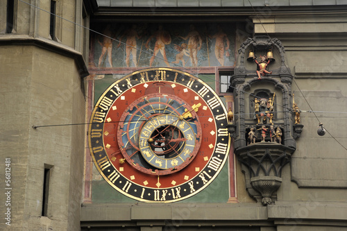 The famous clock tower at Bern on Switzerland