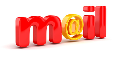 E-Mail sign (clipping path included)