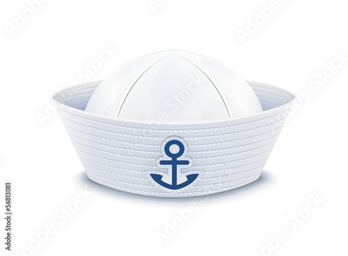 Sailor cap. vector illustration isolated on white background