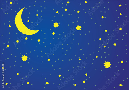 Vector illustration of night sky.