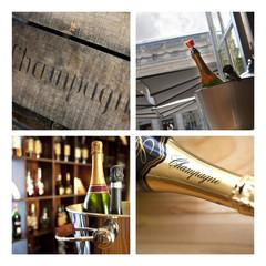 Champagne, bulles, vin, alcool, bouteille, boisson