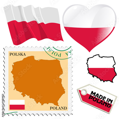 national colours of Poland