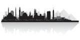 Cairo Egypt city skyline vector silhouette