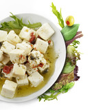 Feta Cheese With  Oil And Herbs