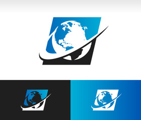 Swoosh Planet Earth Icon