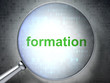 Education concept: Formation with optical glass