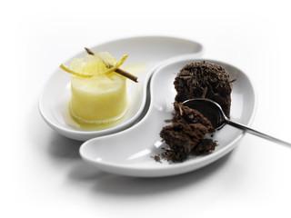 Dessert Variation mit Zimt und Schokolade