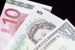 Billet Euro-Livre-Dollar