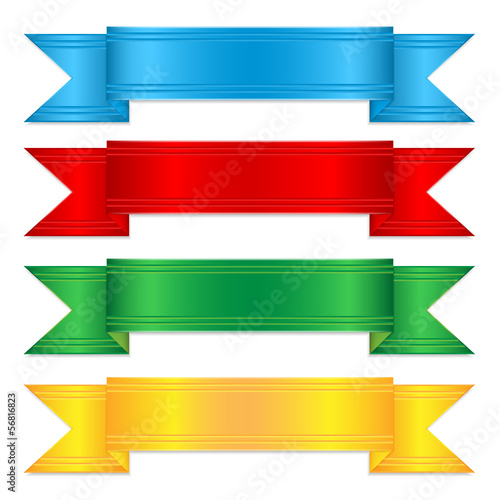set of colorful ribbons.elements for decor.vector