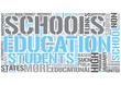 Alternative Education Word Cloud Concept