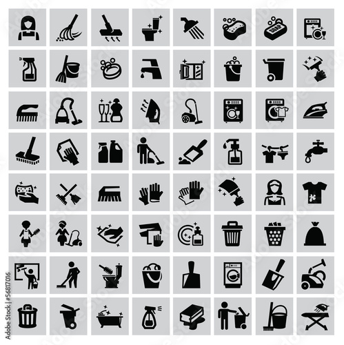 cleaning icons - 56817016