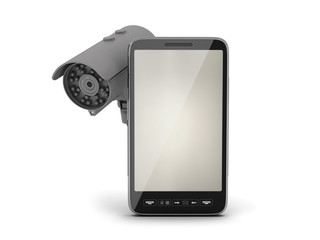 Mobile phone and video surveillance camera
