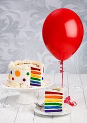 Birthday Cake with Balloon