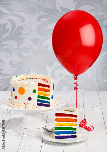 Birthday Cake with Balloon