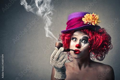 Leinwandbild Motiv vintage clown