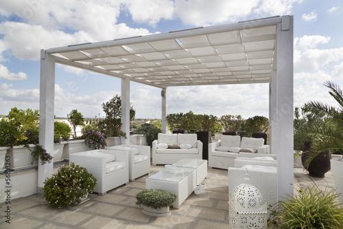 Plexiglas Tuin Giardino in terrazza
