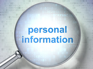 Protection concept: Personal Information with optical glass