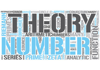 Analytic number theory Word Cloud Concept