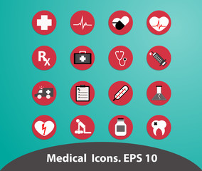 Medical icons.Illustrstion EPSS 10