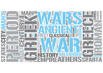 Ancient Greece Word Cloud Concept