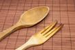 Wooden kitchen utensils