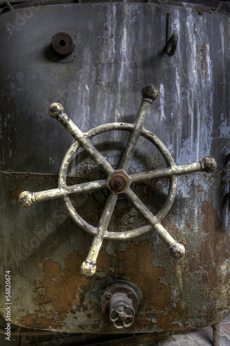 Old rusty steering wheel