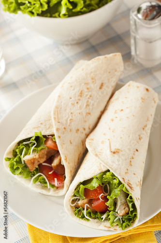 Breaded Chicken in a Tortilla Wrap