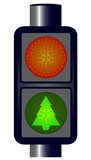 Green Christmas Traffic Lights