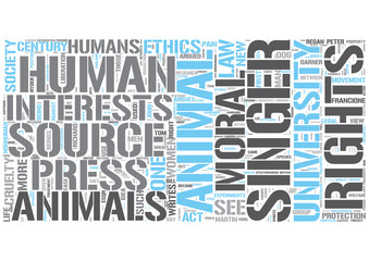 Animal rights Word Cloud Concept