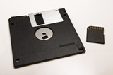 Floppy disc and SD card