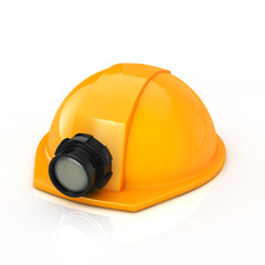 Protection helmet with lamp