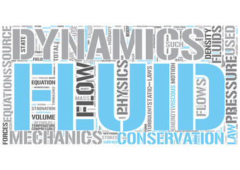 Hydrodynamics Word Cloud Concept