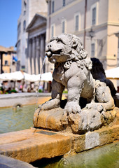 Fountain of the Three Lions, Assisi
