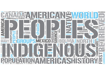 Indigenous peoples of the Americas Word Cloud Concept