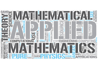Applied mathematics Word Cloud Concept