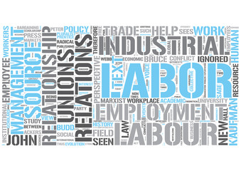 Industrial relations Word Cloud Concept