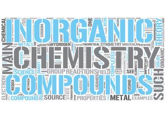 Inorganic chemistry Word Cloud Concept