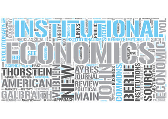 Institutional economics Word Cloud Concept