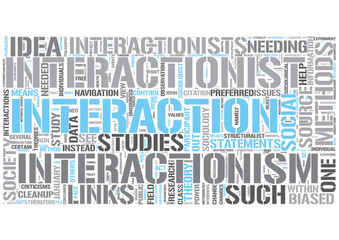Interactionism Word Cloud Concept
