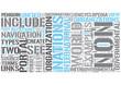 International organizations Word Cloud Concept